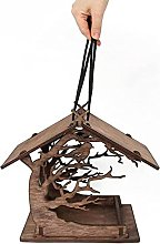 SUSHOU Jardín de árbol de Madera Colgando