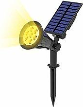 T-SUN 7 LED Foco Solar, Impermeable Luces Solares