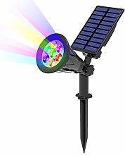 T-SUN 7LED Foco Solar, Impermeable Luces Solares