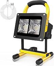 T-SUN Foco de Trabajo LED 30W, Recargable Luz de