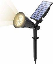 T-SUN Foco Solar, Impermeable Luces Solares