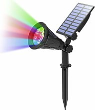 T-SUN Foco Solar, Luces Solares de 4 Color Cambio,