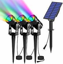 T-SUN Luces Solares Led Exterior Jardin, 3 en 1