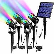 T-SUN Luces Solares Led Exterior Jardin, 4 en 1