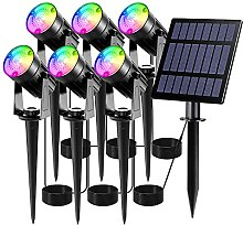 T-SUN Luces Solares Led Exterior Jardin, 6 en 1