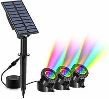 T-SUN Luces solares para estanques, 3 luces para