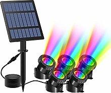 T-SUN Luces solares para estanques, 5 luces para