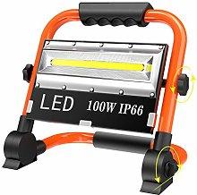 T-SUN Luz de Trabajo Foco LED Recargable, 100W Luz