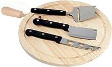 Tabla cocina cortar con mango 24cm madera artema