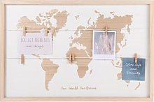 Tablón con mapamundi 60x40