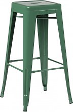 Taburete Alto en Acero LIX Verde Col & ↑76 cm