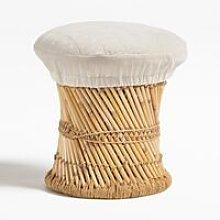 Taburete Bajo en Bambú Thëss Velvet Bambú