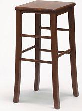Taburete cuadrado para bar e cocina de madera