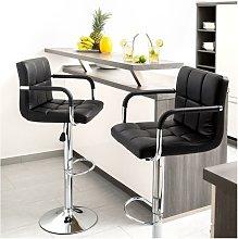 Taburete de bar conjunto de 2, silla de bar con