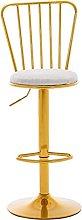 Taburete de bar creativo respaldo de moda, silla
