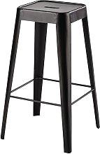 Taburete de bar de metal negro