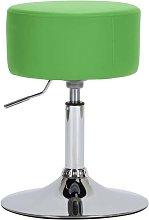 Taburete de cocina cuero sintético verde - Hommoo