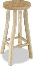 Taburete de cocina de madera de teca - Marrón -