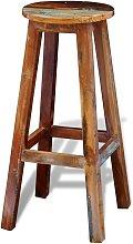 Taburete de cocina de madera maciza reciclada -