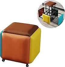 Taburete De Cubo Creativo, 5 En 1 Asientos De