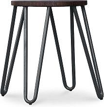 Taburete Hairpin - 43cm - Madera oscura y metal