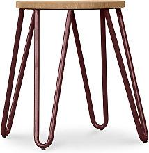 Taburete Hairpin - 44cm - Madera clara y metal