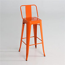 Taburete industrial alto respaldo naranja