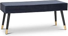 Taburete Otomano Azul , Banco de pie de cama ,