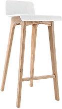 Taburete / silla de bar diseño madera natural y