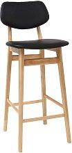 Taburete / silla de bar diseño negro y madera
