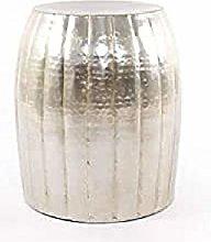 Taburete Vintage Plata Aluminio