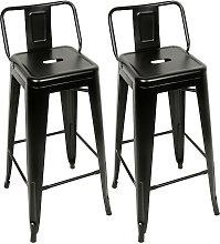 Taburetes de Cocina 2 Unidades de Acero,silla de