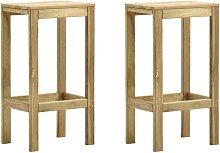 Taburetes de cocina 2 unidades madera de pino