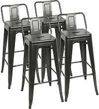 Taburetes de Cocina 4 Unidades de Acero,silla de
