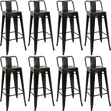 Taburetes de Cocina 8 Unidades de Acero,silla de