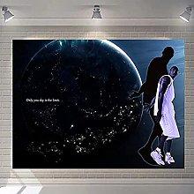 Tapiz conmemorativo de jugador de baloncesto para