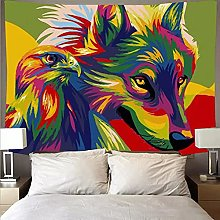Tapiz de Lobo Animal Colgante de Pared Alfombra