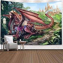 Tapiz de Pared de dragón Bohemio Colgante
