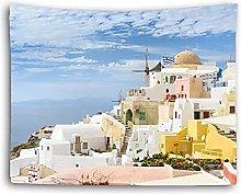 Tapiz Hippie Toalla de Playa mar Castillo Paisaje