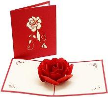 Tarjeta de felicitación 3D, tarjeta de regalo de