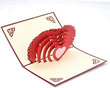 Tarjeta de felicitación 3D, tarjeta emergente,