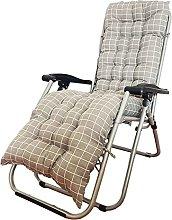 TASJS Silla de Sol Cojín Largo reclinable Silla