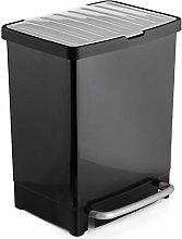 Tatay 1101600 Cubo Reciclaje, Negro,