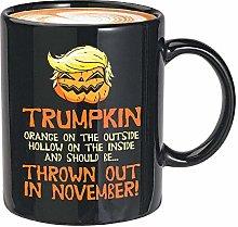 Taza de café anti Trump de 11 oz, naranja