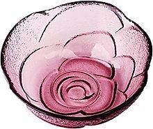 Tazón de vidrio, Ensaladera de flores de rosa
