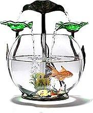 TEAYASON Fuente de cristal para tanque de peces,