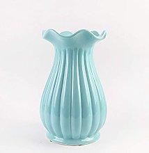 TEAYASON Macetero vintage blanco de cerámica,