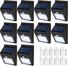 Tectake - 10 focos solares LED con sensor de