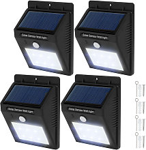 Tectake - 4 focos solares LED con sensor de