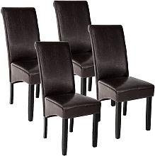 Tectake - 4 sillas de comedor ergonómicas -